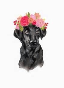 black lab flower crown  annatyrrell  etsy crown