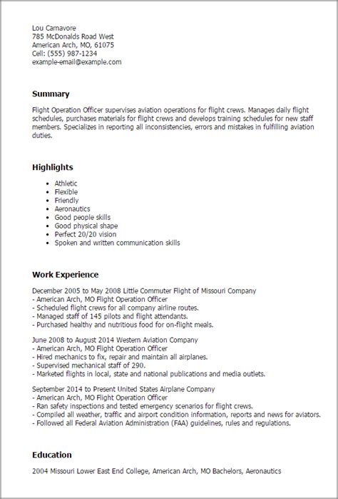 flight attendant resume sles