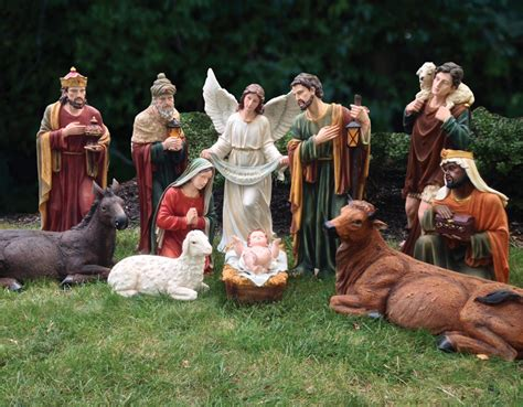 wooden outside nativity set outdoor yard decorations nativity sets