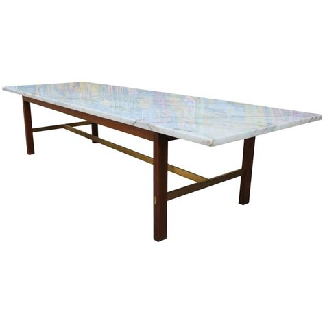 marble brass coffee table paul mccobb marble and brass coffee table at 1stdibs