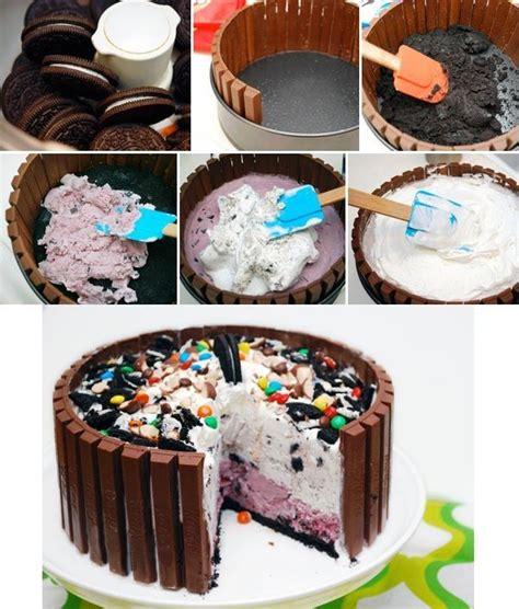Resepi Aiskrim Kit Kat Ice Cream Cake Sweet Tooth Pinterest