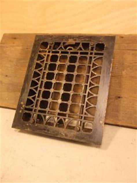 vintage metal furnace grate floor wall heater vent cover