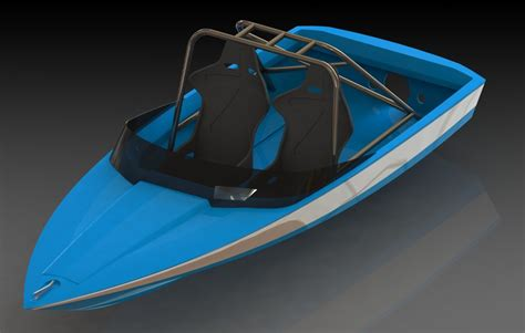 Custom Rc Jet Boat by Jet Boat X B 3d Cad Model Library Grabcad