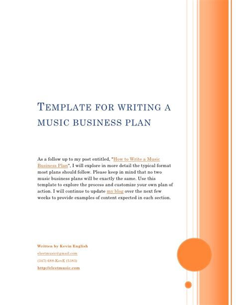 template  writing   business plan