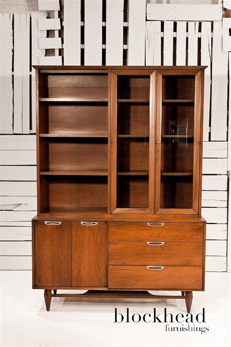 mid century modern china cabinet mid century modern walnut china cabinet by
