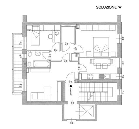 Piantine Appartamento by Come Dividere Un Appartamento Di 100 Mq Con Impianto