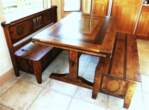 kitchen contemporary kitchen nook set  redwood bench