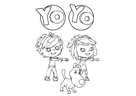 disegni da colorare mini cuccioli yoyo immagini di disegni da colorare cartoni animati yoyo