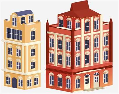 Clipart Apartment Building Rise Condominium Cartoon Transparent