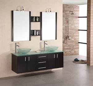 Idée Meuble Salle De Bain : meuble double vasque 50 id es am nagement salle de bain ~ Dailycaller-alerts.com Idées de Décoration