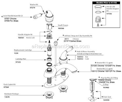 Moen 84206 Parts List and Diagram : eReplacementParts.com
