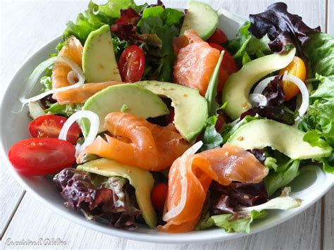 salade saumon fume avocat tomates la cuisine dadeline