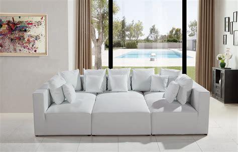 206 Modern White Leather Sectional Sofa Modern Sofas