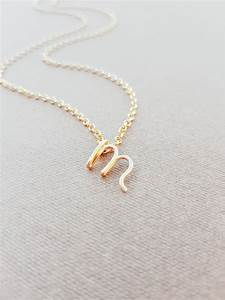letter m necklace gold initial necklace cursive letter With letter m necklace gold