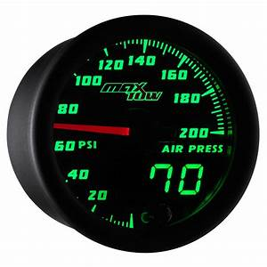 Maxtow Double Vision Series 200 Psi Air Pressure Gauge