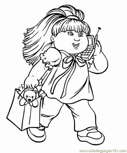 Cabbage Patch Coloring Pages Cartoon Doll Printable