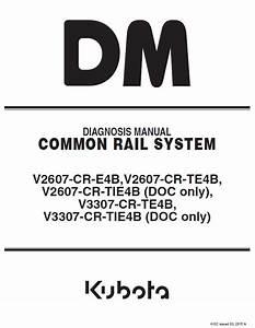 Kubota Common Rail System V2607 V3307
