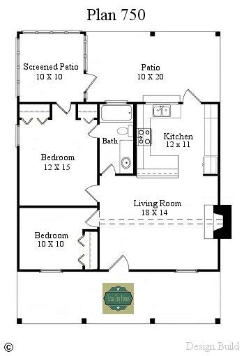 Plan 750 and Plan Tiny house plans Cottage plan