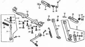 Honda Motorcycle 1978 Oem Parts Diagram For Pedal    Step