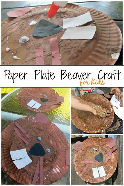 beaver paper plate craft for booking across the usa 214 | oregon beaver paper plate craft for preschool
