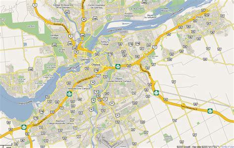 large road map  ottawa city ottawa large road map