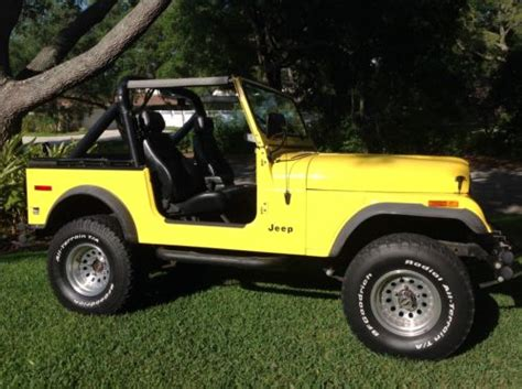 cj jeep yellow 1979 jeep cj cj7 yellow for sale craigslist used cars