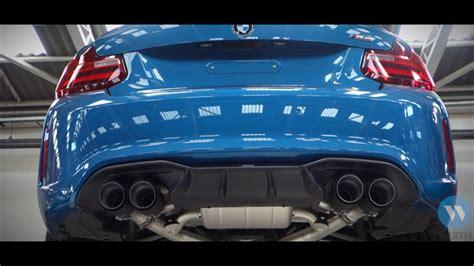 akrapovic exhaust bmw m2 youtube