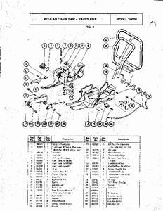 Poulan S6000 Chainsaw Parts List