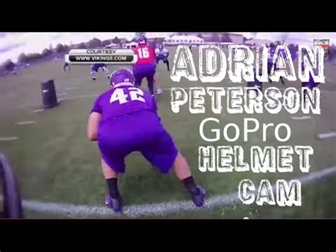 adrian peterson gopro helmet cam  training camp youtube