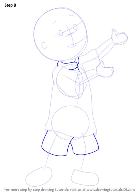 learn   draw caillou caillou step  step drawing