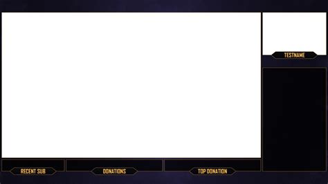 obs templates twitch overlay purple gold by chromaia on deviantart