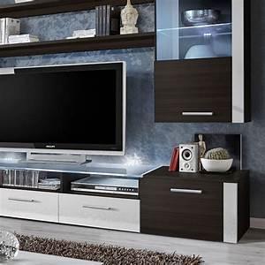 Meuble Tv 250 Cm : meuble tv mural design fresh 250cm weng blanc ~ Teatrodelosmanantiales.com Idées de Décoration