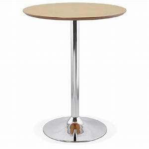 Table Haute Bois Metal : table haute mange debout design laura en bois pieds m tal chrom 90 cm finition ch ne naturel ~ Teatrodelosmanantiales.com Idées de Décoration