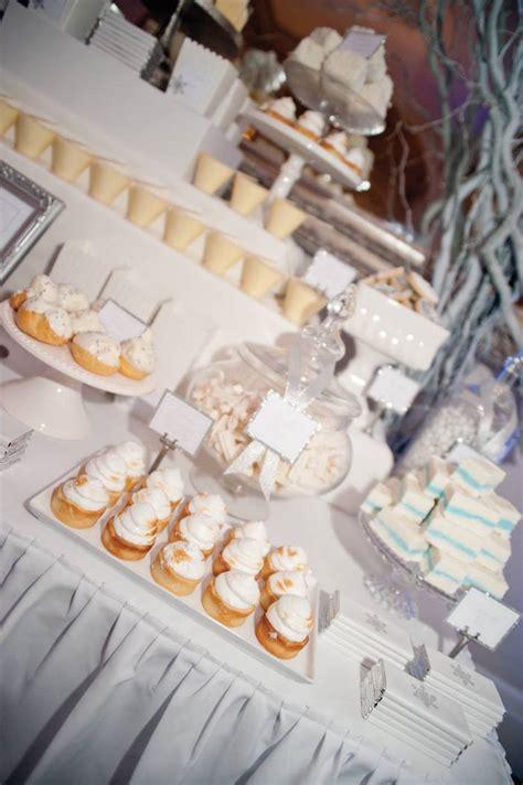 karas party ideas winter wonderland wedding dessert table