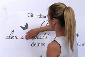 Wandtattoos Von Tine Wittler : wandtattoo anbringen anleitung zur wandtattoo montage ~ Sanjose-hotels-ca.com Haus und Dekorationen