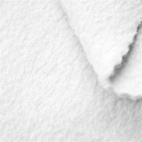 white anti pill yukon fleece fabric