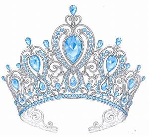 Blue clipart princess crown - Pencil and in color blue ...