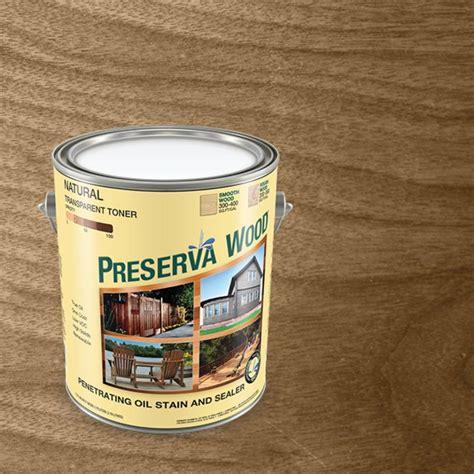 preserva wood  gal oil based transparent natural