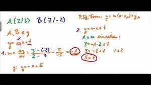 R V Autoversicherung Berechnen : geradengleichung mit 2 punkten bestimmen youtube ~ Themetempest.com Abrechnung