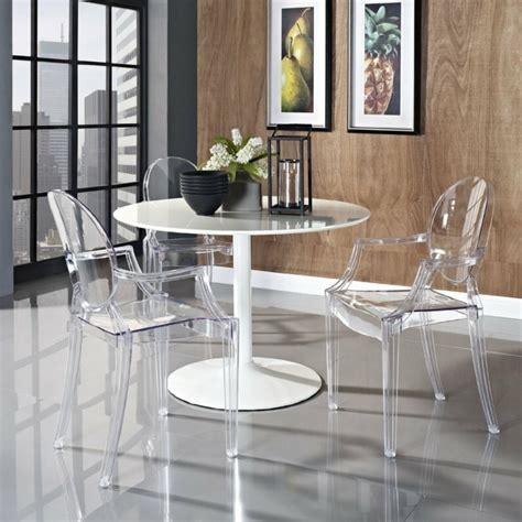 chaise pour table a manger pourquoi choisir la chaise design transparente