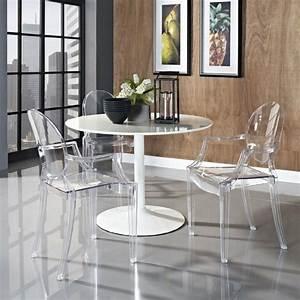 Table Blanche Salle A Manger : pourquoi choisir la chaise design transparente ~ Teatrodelosmanantiales.com Idées de Décoration