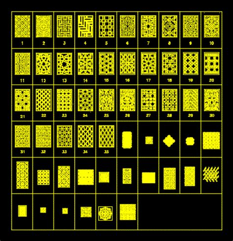 patterns ornamental  autocad  cad