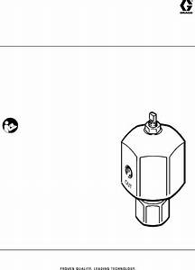 Graco 307892k Back Pressure Valve With Carbide Needle And