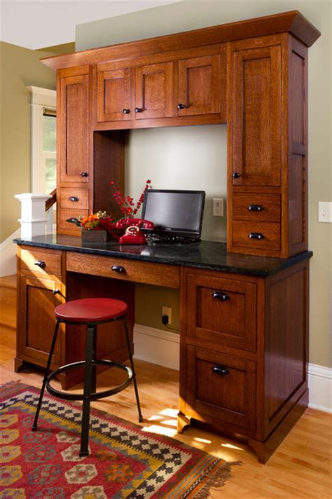 computer desk hutch Kitchen Traditional with ceiling