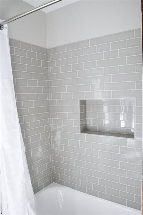 Subway Tile Bathroom Colors by Our Home Bathroom Grey Bathrooms Bathroom Subway