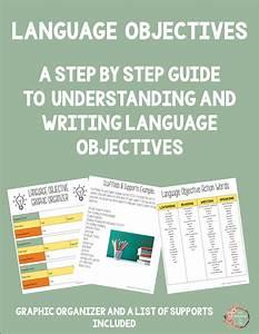 Language Objective Guide  U2013 My Adventures In Esl