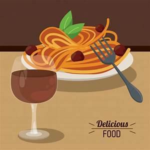 Wein Und Glas Essen : k stliche essen spaghetti fleischb llchen und glas tasse wein premium vektor ~ A.2002-acura-tl-radio.info Haus und Dekorationen