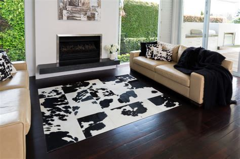 Cowhide Rugs Sydney - black and white cowhide patchwork rugs contemporary