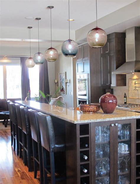 blue kitchen pendant lights 15 blown glass pendant lighting ideas for a modern and 4830