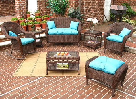 wicker antique brown malibu outdoor wicker patio furniture